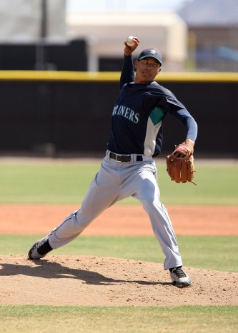 RHP Taiwan Walker was named the Midwest League's Top Prospect by Baseball America (Photo by Bill Mitchell).