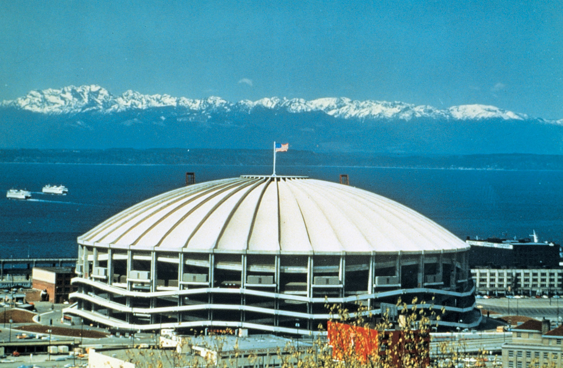 Image of the Kingdome, former home of the Seattle Seahawks.