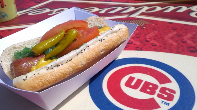 Image result for chicago style hot dog wrigley