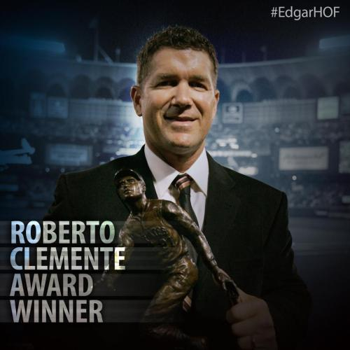 Edgar Martinez was the Roberto Clemente Award Winner in 2004.