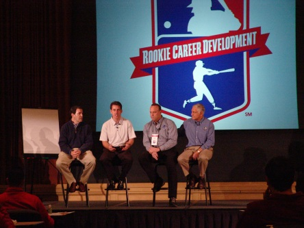 Players took part in a media session with Jayson Stark, Tom Verducci, Dave Valle and George Grande at the Rookie Career Development Program held last weekend in Washington, D.C.