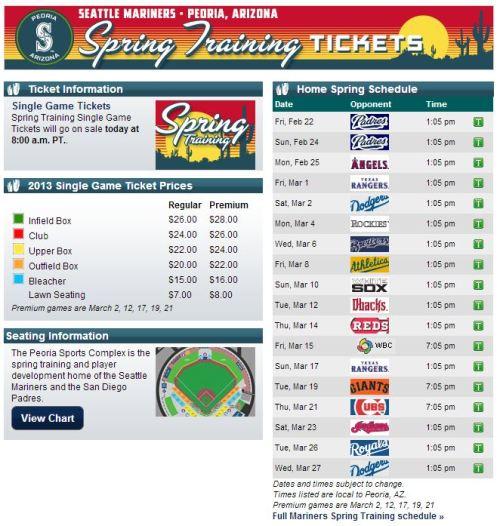 Spring Tickets
