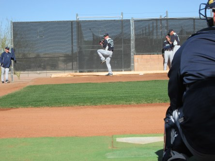 RHP Jeremy Bonderman throwing a bullpen.