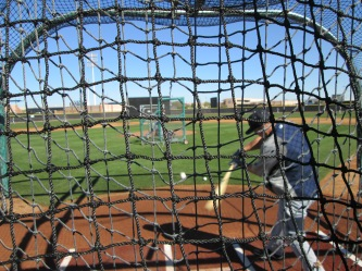 Kyle Seager during batting practice.