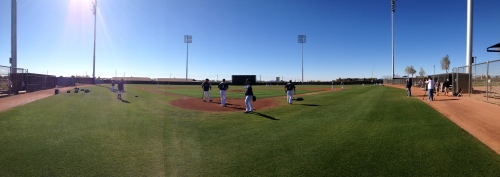 Mariners morning workout.