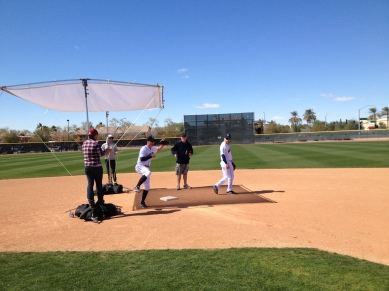 Ryan and Ackley turning double plays for ESPN The Magazine.