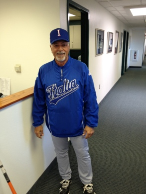 Former Mariners coach Sammy Perlozzo in his Team Italy uniform.