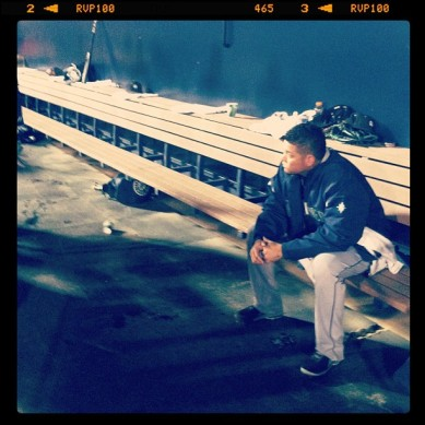 Instagram photo of King Felix waiting to take the mound. (@peoriasportscom)