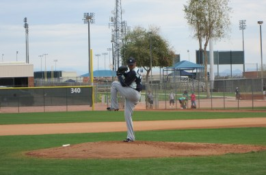 King Felix throwing his simulated game.