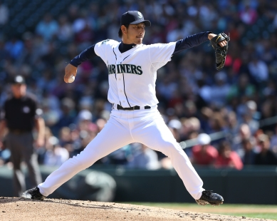 Hisashi Iwakuma in his start Sept. 2, 2012 vs. the Angels.