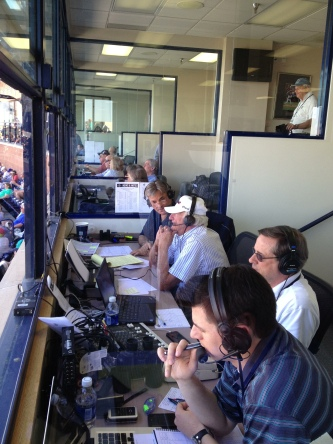 Bob Uecker sat in for an inning on radio.