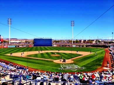 Sunny Peoria Stadium.