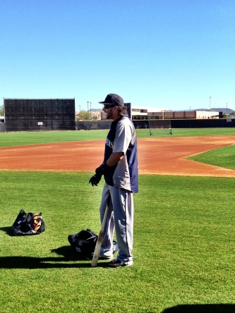 Michael Morse getting ready for batting practice.