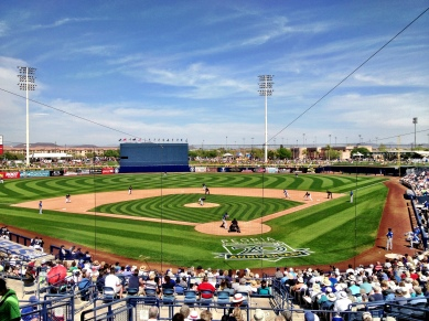 Beautiful Peoria Stadium.