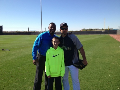Raul and RJ Ibanez with Ken Griffey Jr.