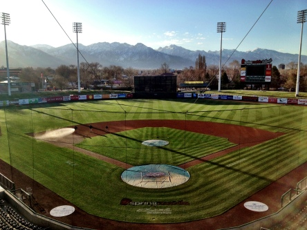 Spring Mobile Ballpark in Salt Lake City.