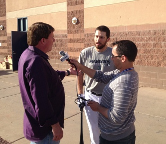 Dustin Ackley with XM Radio.