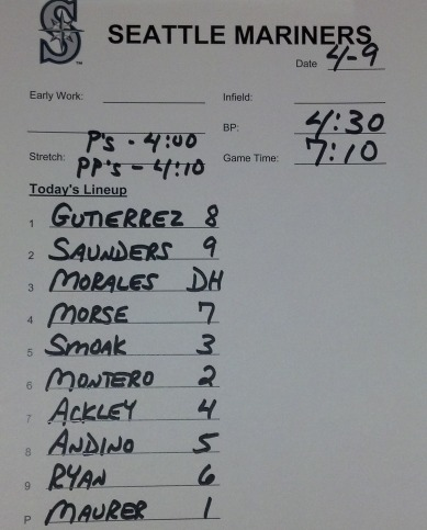 Tonight's starting lineup vs. the Astros.