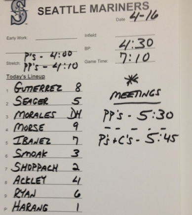 Tonight's lineup vs. the Detroit Tigers.