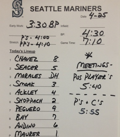 Mariners lineup vs. the Angels.