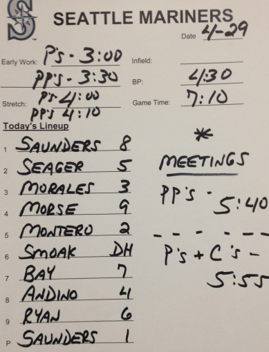 Tonight's Mariners lineup vs. the Orioles.