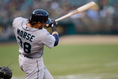 Michael Morse hit his MLB-leading 3rd home run  in the first inning vs. Oakland.