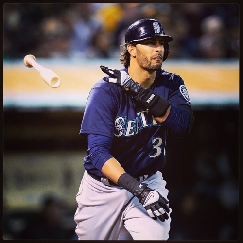 Michael Morse hit two home runs in the Mariners 7-1 win over the A's. It was his 6th career multi-home run game. (Getty Images)