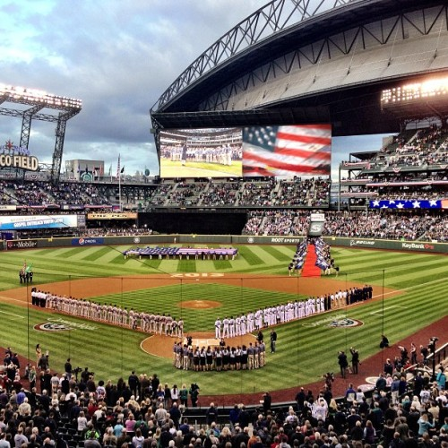 The 2013 Home Opener at Safeco Field.