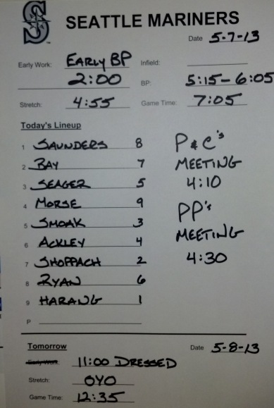 Tonight's starting lineup vs. the Pittsburgh Pirates.