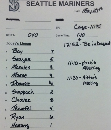 Today's starting lineup vs. the Padres.