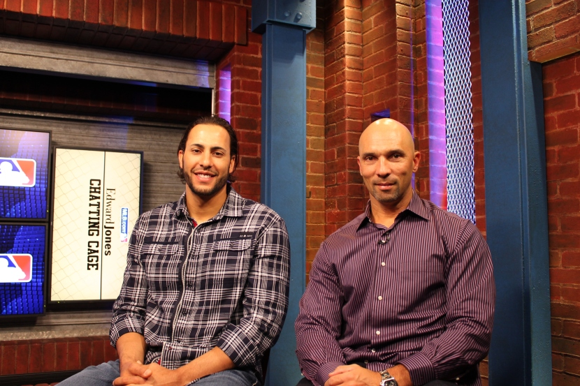 Michael Morse and Raul Ibanez were guests at MLB.com headquarters today.