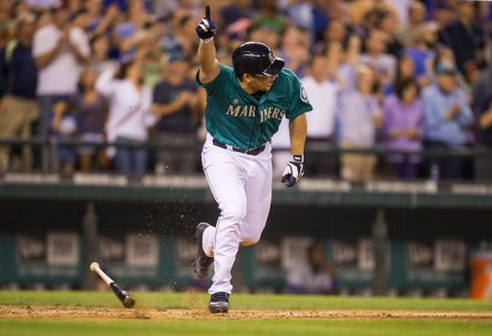Mike Zunino knew coming out of the batter's box he delivered the game-winning hit. (DEAN RUTZ / The Seattle Times)