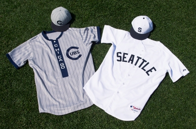 Uniforms of the Cubs and Turks for Saturday.