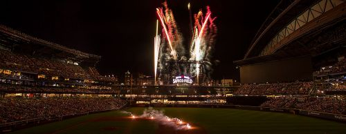 Fireworks show at Safeco Field.
