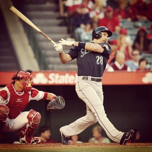 Raul Ibanez hit his team-leading 14th home run last night vs. the Angels.