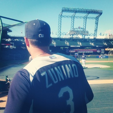 Mike Zunino will wear #3 for the Mariners when he makes his Major League debut.