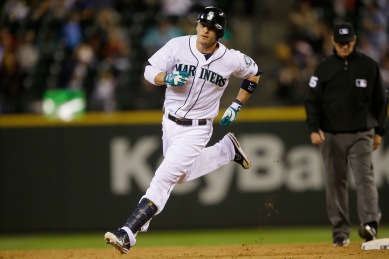 Brendan Ryan sprints around the bases (in about 17 seconds) after hitting his 3rd home run of the season (AP Photo).