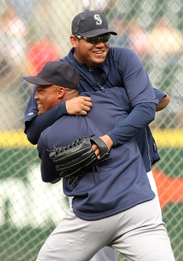 Former teammates Adrian Beltre and Felix Hernandez have a unique rivalry on the baseball field.