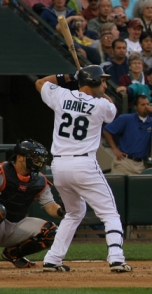 Raul Ibanez at the plate.