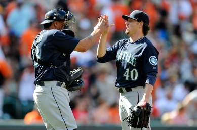 Danny Farquhar has recorded saves in each of the last two Mariners wins.
