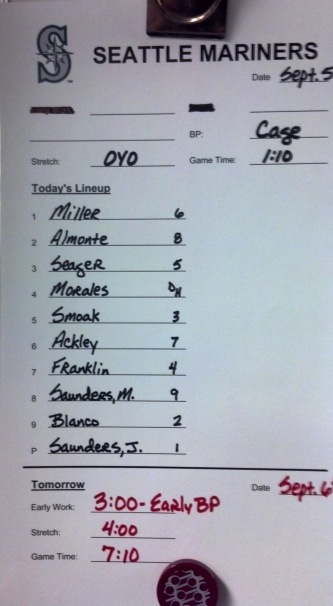 Today's Mariners Line-up