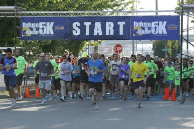 The Second Annual Refuse to Abuse 5K raised $75,000 for the Washington State Coalition Against Domestic Violence.