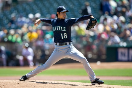 Hisashi Iwakuma finished 3rd in voting for the 2013 AL Cy Young Award.