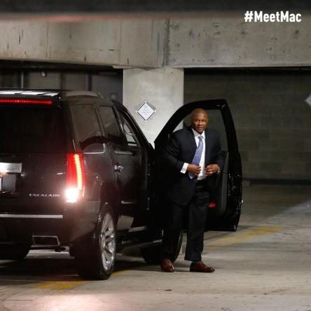 Lloyd arrives at Safeco Field.