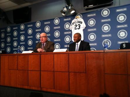 Lloyd at his introductory news conference.
