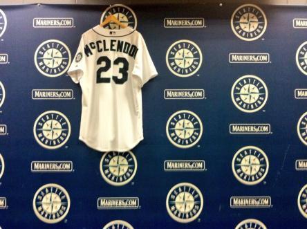 McClendon's jersey #23.