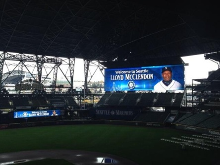 Safeco Field getting ready to welcome the new skipper.