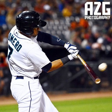 Stefen Romero hit 2 home runs in the Arizona Fall League All-Star Game. (Joseph Pun/AZG Photography)