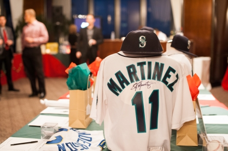Auction items, including several Mariners items, helped raise over $200,000 for charity.