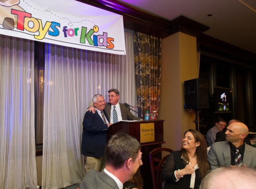 "Rick Rizzs and Al ""Moose"" Clausen at the 13th Annual Toys for Kids Dinenr and Auction."